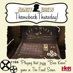Throwback Thursday moment featuring Nancy Drew: The Final Scene. #NancyDrew #TBT
