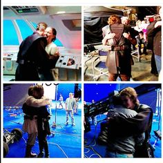 Hayden Christensen (Anakin Skywalker) giving hugs behind the scenes ... I want a hug from Anakin too