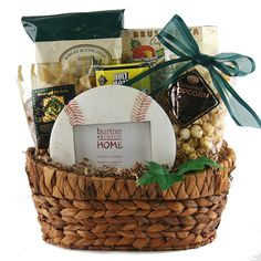 Take Me Out To The Ballgame Baseball Gift Basket