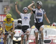 Schlecks beating Contador...