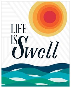 Isabelle & Max Abdullah Life Is Swell Canvas Art Size: Canvas Wall Decor, Canvas Artwork, Canvas Frame, Art Projects For Adults, Easy Art Projects, Personalized Growth Chart, Artist Biography, Personalised Canvas, Simple Art