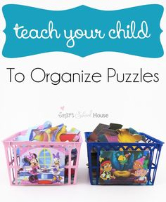 Teach Your Child to Organize Their Puzzles