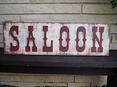 """30 """"SALOON Old Wood Sign Vintage rustikale primitive Western Bar Werbung Western Saloon, Western Style, Western Bar, Old West Saloon, Western Signs, Western Theme, Old Wood Signs, Wooden Signs, Saloon Decor"""