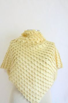 Handmade Crochet Ivory Wedding Shawl-Free Shipping