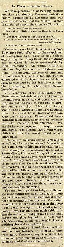 Yes Virginia, there is a Santa Claus