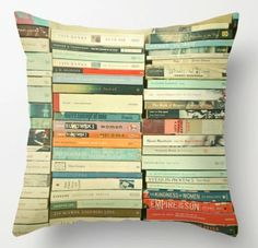 Bookish pillow. Fun and cool!