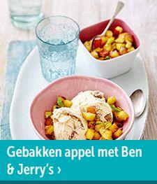 Gebakken appel met Ben & Jerry's ijs