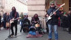T Rex, Get it On (cover) - busking in the streets of London, UK