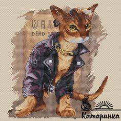 Cat Cross Stitches, Cross Stitch Patterns, Ghibli, Hugs, Moose Art, Etsy, Motifs, Animals, Fictional Characters
