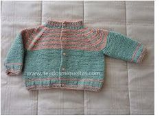 * Tejidos Miqueitas *: Chaqueta en verde menta y rosado para la primavera Point Mousse, Men Sweater, Pullover, Sweaters, Baby, Crafts, Craft Ideas, Fashion, Mariana