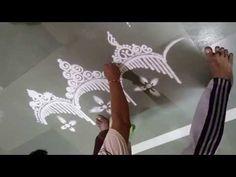 How to draw Necklace Rangoli Unique Rangoli Designs Super Creative Rangoli - YouTube