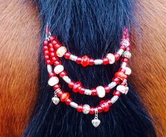 beautiful tail beads for your horse on my website!