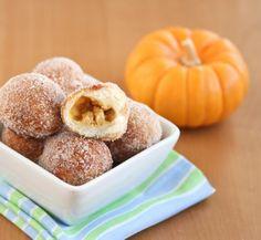 Pumpkin Cheesecake Filled Donut Holes | Kirbie's Cravings | A San Diego food blog