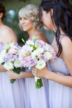 soft purple bridesmaids