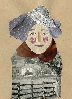 lovely collage art by Danielle Frick  as shown on the art room plant