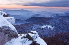Blue Taiga, Krasnoyarsk Stolby, Siberia, Russia by Michael Vershinin