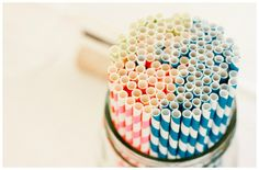 Color Wheel of Paper Straws