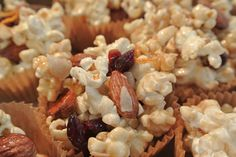 Honey Orange Cranberry Popcorn Recipe  www.GirlGab.com
