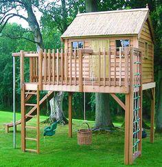 Предлагаю вашему вниманию подборку идей с детскими игровыми домиками, которые можно построить для своих ребятишек на даче или загородном участке, если вы живете в частном доме.…