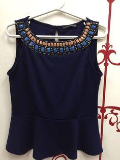 Blusa Colar de Pedras - 17423150 | enjoei :p