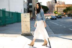 Spring Vibes   White Dress Denim Jacket   Summer Style - Everyday with J