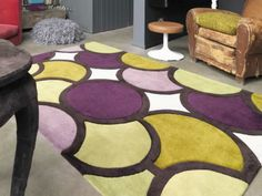 Harlequin Bubble Facet Purple Green Rugs Online From Direct