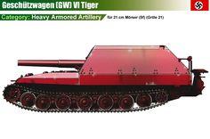 Geschützwagen VI Tiger für 21 cm Mörser 18 (SF) / Grille 21