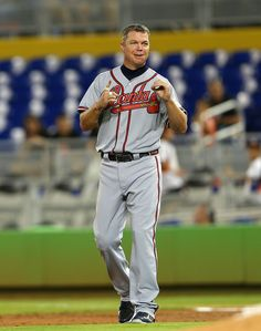 Chipper Jones Photo - Atlanta Braves v Miami Marlins