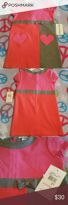 Hartstrings 2T toddler dress Host Pick! Pink, melon, and gray toddler dress, size 2T. NWT. Beautiful knit dress, quilted top, very well suited for fall wear! Host Pick for Everything Kids Party 9/25/16 Hartstrings Dresses Casual