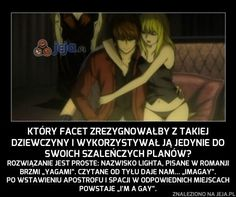 Doszłam do tego dopiero gdy skończyłam to anime Anime Meme, Manga Anime, Polish Memes, Itachi, Naruto, Everything And Nothing, Anime Japan, Death Note, Wtf Funny