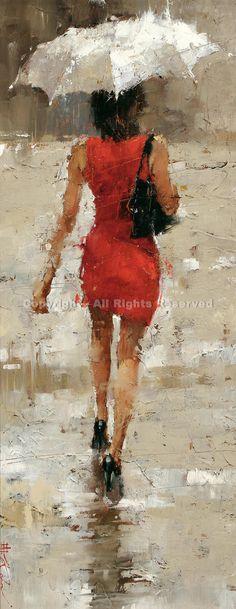 Stilettos - Oil by Andre Kohn