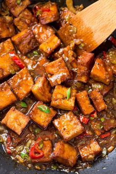 Vegan black pepper tofu is a delicious dish adapted from classicChineserecipe. It's quick to make, full of flavour and texture, filling and gluten-free.