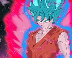 Son Goku Super Saiyan Blue (Kaioken Animation) by M3ruem