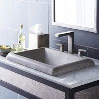 Concrete bathroom sink montecito drop in native trails. Stone Bathroom Sink, Drop In Bathroom Sinks, Wall Mounted Bathroom Sinks, Undermount Bathroom Sink, Concrete Bathroom, Stone Sink, Modern Bathroom, Bathroom Ideas, Lavatory Sink