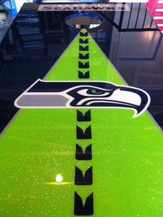 My husband and I made this Seahawks corn hole board!!!!