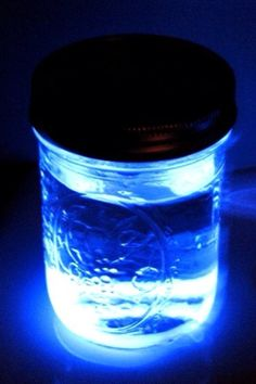 Great for evening summer parties! Cut a glow stick open, pour it in water! DIY nightlight.