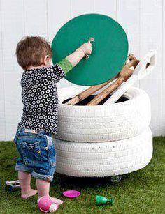 Fika a Dika - Por um Mundo Melhor: Reciclagem de Pneu como Móveis
