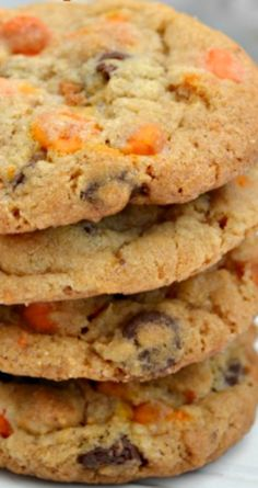 Chocolate Pumpkin Chip Cookies ~ Delicious Halloween and Fall Friendly Recipe