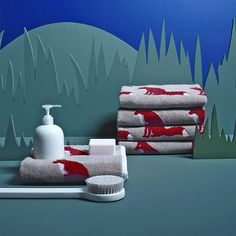 Buy Anorak Proud Fox Face Cloth, Natural Online at johnlewis.com