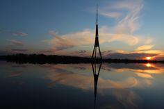 TV tower,  Riga, the capital of Latvia