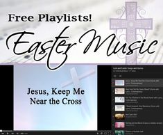 Free Easter Music Playlist on You Tube of Songs and Hymns -- includes Lent, Palm Sunday, Good Friday, and Easter songs and hymns. Daycare School, School Craft, Sunday School, Easter Worship Songs, Easter Songs, Christian Crafts, Christian Music, Easter Decor, Easter Ideas