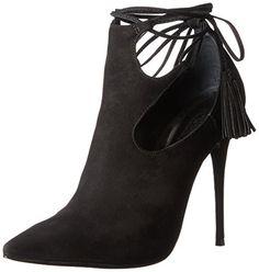 Schutz Women's Justine Boot, Black, 8.5 M US