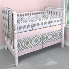 Crib bedding to complete the perfect nursery by Carousel Designs. All of our nursery bedding collections are made in the USA and available for both baby boys and baby girls. Pink Elephant Nursery, Elephant Crib Bedding, Girl Crib Bedding Sets, Custom Baby Bedding, Baby Girl Elephant, Girl Nursery, Nursery Ideas, Pink Bedding, Project Nursery