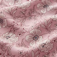 Flowers Viscose – pink - Viscose fabricsfavorable buying at our shop Home Flowers, Pink Flowers, Email Gift Cards, Order Up, Haberdashery, Weaving, Delicate, Art Prints, Diy