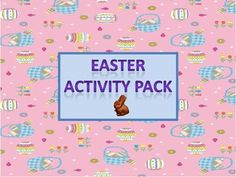 Easter Activity Pack - Literacy and Math Fun. Print and go. Four different sheets of math word problems, (two addition and two subtraction), ten count the eggs and trace the number word sheets, an original Easter poem to read, a create a word activity, an Easter word scramble, a jelly bean sort and graphing activity, an Easter maze, a history of Easter (the resurrection) and a history of Easter (bunnies and eggs).