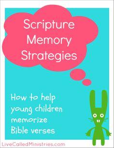 Scripture Memory Strategies for Toddlers & Preschoolers