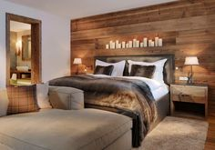 Hotel Arlberg Jagdhaus: country-style bedroom by Go Interiors GmbH - Home Decor Bedroom Modern Rustic Bedrooms, Rustic Master Bedroom, Master Bedroom Design, Home Decor Bedroom, Bedroom Country, Bedroom Ideas, Master Bedrooms, Bedroom Designs, Girls Bedroom
