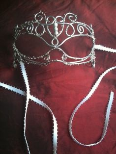 Silver Dreams Masquerade Mask by Sarlume on Etsy