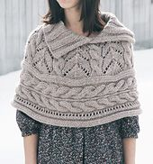 Ravelry: Lace and Cables Capelet pattern by Norah Gaughan