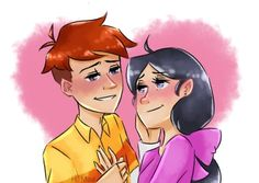 """hains-mae: """"Quick sketch before I go to bed. Somehow I managed to get sorta back on with the feels of Phinabella, not sure why. Disney Couples, Disney Love, Phineas And Isabella, Phineas Et Ferb, Milo Murphys Law, Somehow I Manage, Classic Cartoons, Quick Sketch, Cartoon Art"""
